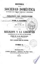 Historia de la Sociedad doméstica o Influencia del Cristianismo en la familia