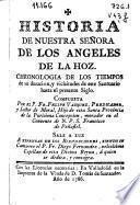 Historia de Nuestra Señora de los Angeles de la Hoz
