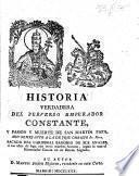 Historia ... del perverso Emperador Constante, y pasion y muerte de San Martin Papa, etc