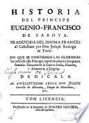 Historia del principe Eugenio-Francisco de Saboya