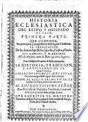 Historia Eclesiastica Del Reino Y Obispado De Iaen