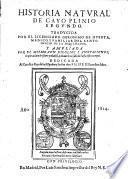 Historia natural, trad. por Geronimo de Huerta ... ampliada con escolios y anotaciones