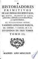 Historiadores primitivos de las Indias Occidentales