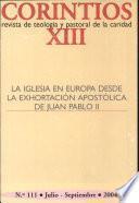 Iglesia en Europa desde la Exhortacin Apostlica de Juan Pablo II, La
