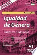 Igualdad de Género. Junta de Andalucía. Temario y Test