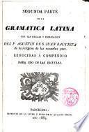 II Parte de la Gramática Latina