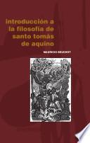 Introducción a la filosofía de santo Tomás de Aquino