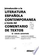 Introducción a la literatura española contemporánea a través del comentario de textos
