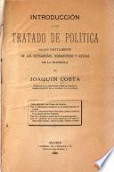 Introducción á un tratado de política sacado textualmente de los refraneros