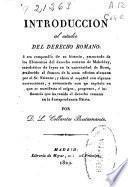 Introducción al estudio del derecho romano