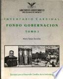 Inventario cardinal, fondo gobernación