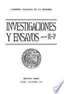 Investigaciones y ensayos