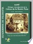 Kant, prólogo e introducción de la Crítica de la razón