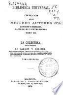 La celestina, traji-comedia de Calisto y Melibea
