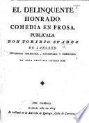 La Comedia nueva, ó el Café. Comedia en dos actos en prosa. By L. Fernández de Moratín