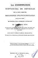 La Constitucion convencida de impiedad por la Santa Escritura