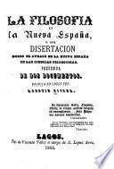 La filosofia en la Nueva España