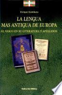 La lengua más antigua de Europa