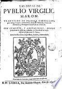 Las obras de Pvblio Virgilio Maron