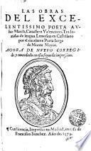 Las Obras del excelentissimo poeta Ausias March ...