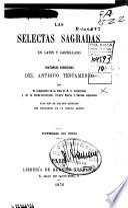 Las selectas sagradas en latin y castellano ó Historias escogidas del Antiguo Testamento
