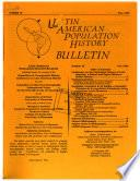 Latin American Population History Bulletin