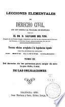 Lecciones elementales de derecho civil