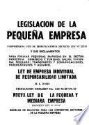 Legislación de la pequeña empresa