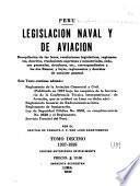 Legislación naval y de aviación