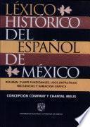 Léxico histórico del español de México
