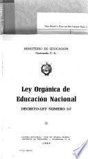 Ley orgánica de educación nacional