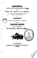 Leyenda história-política-militar-administrativa-relijiosa del Peñon de Velez de la Gomera