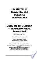 Libro de literatura y tradición oral tawahkas