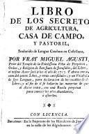 Libro de los secretos de agricultura, casa de campo y pastoril