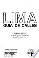 Lima, guía de calles