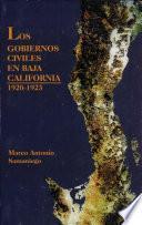 Los gobiernos civiles en Baja California, 1920-1923