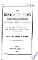 Los restos de Colón