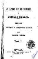 Los Últimos dias de un pueblo, ó, Nicolas de Lapi