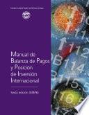 Manual de Balanza de Pagos y Posición de Inversión Internacional