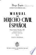 Manual de derecho civil español