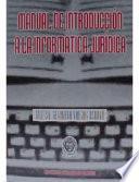 Manual de introducción a la informática jurídica