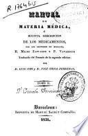 Manual de materia médica ó Sucinta descripción de los medicamentos...