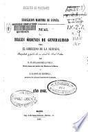 Manual de Reales órdenes de generalidad para el gobierno de la Armada