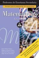 Matematicas. Profesores de Enseñanza Secundaria. Volumen Ii. E-book