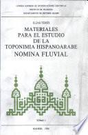 Materiales para el estudio de la toponimia hispanoárabe