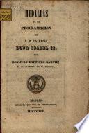 Medallas de la proclamación de S.M. la Reina Doña Isabel II