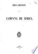 Memoria administrativa de la campaña de Africa