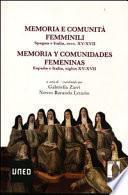 Memoria e comunità femminili