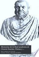 Memorias de la Real academia de Ciencia Exactas, Fisicas y Naturales de Madrid