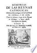 Memorias de las Reinas católicas de España